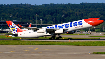 A picture of HBJMG - Airbus A340313 - Edelweiss Air - © Thomas Winklhofer