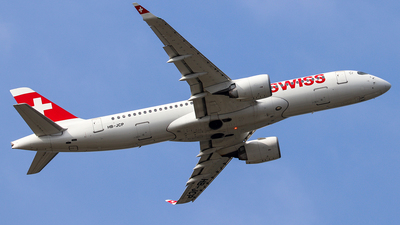 A picture of HBJCP - Airbus A220300 - Swiss - © deejayfra