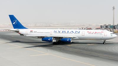 YK-AZB - Airbus A340-313X - Syrianair - Syrian Arab Airlines