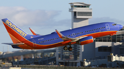 A picture of N7730A - Boeing 7377BD - Southwest Airlines - © Diego Mancilla.