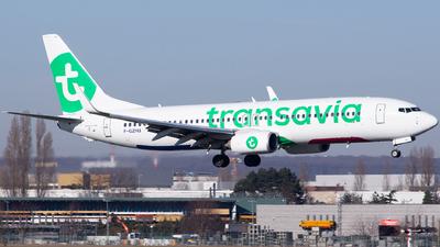 A picture of FGZHU - Boeing 7378K2 - Transavia - © Baptiste Prevost