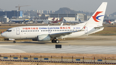 A picture of B5822 - Boeing 73779P - China Eastern Airlines - © wang weilin