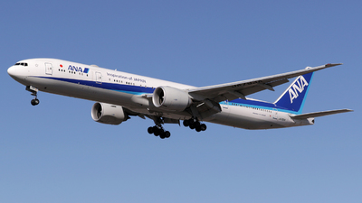 A picture of JA793A - Boeing 777300(ER) - All Nippon Airways - © Terry Figg