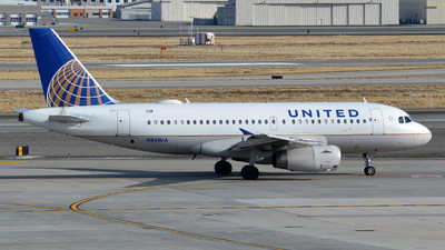 A picture of N828UA - Airbus A319131 - United Airlines - © Justin Lawrence