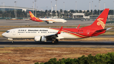 A picture of B1710 - Boeing 73787L - Shenzhen Airlines - © Wuweican