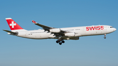 A picture of HBJMI - Airbus A340313 - Swiss - © R Skywalker