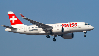 C-GWXZ - Bombardier CSeries CS100  - Swiss