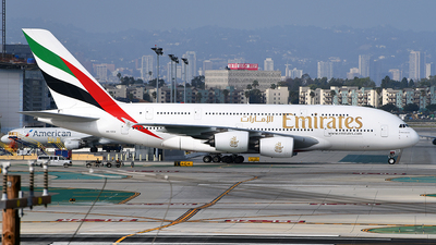 A picture of A6EEU - Airbus A380861 - Emirates - © Rocky Wang