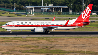 A picture of B5547 - Boeing 73786N - China United Airlines - © Pang Fa-lan