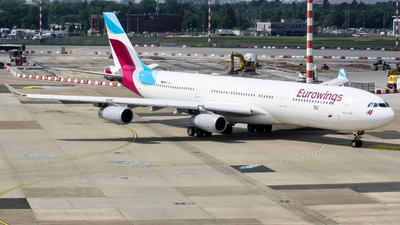 OO-SCX - Airbus A340-313X - Eurowings (Brussels Airlines)