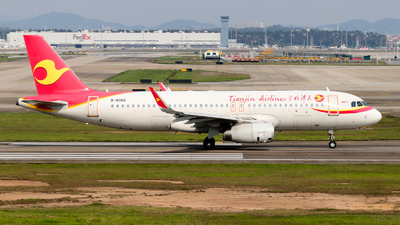 A picture of B8066 - Airbus A320232 - Tianjin Airlines - © Jackson Zheng