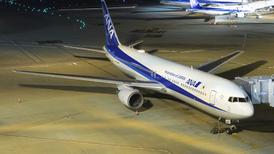 A picture of JA604A - Boeing 767381(ER) - All Nippon Airways - © tora-spotter