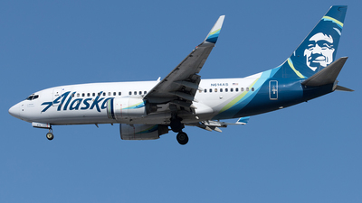 A picture of N614AS - Boeing 737790 - Alaska Airlines - © Yixin Chen