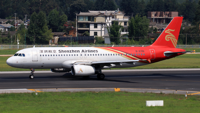 A picture of B6781 - Airbus A320232 - Shenzhen Airlines - © Zhou Bodian