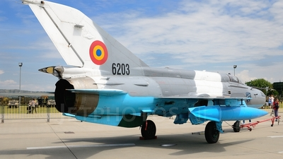 6203 - Mikoyan-Gurevich MiG-21MF Lancer C - Romania - Air Force