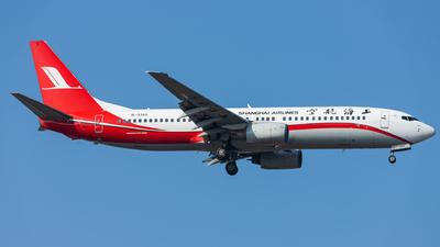 A picture of B5145 - Boeing 7378Q8 - Shanghai Airlines - © Nefertari_CKK