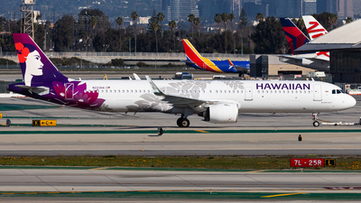 A picture of N223HA - Airbus A321271N - Hawaiian Airlines - © Brandon Giacomin