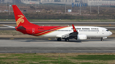 A picture of B5413 - Boeing 73787L - Shenzhen Airlines - © YIJING HOU
