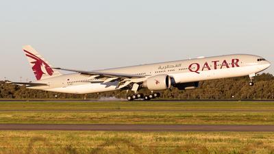 A picture of A7BEV - Boeing 7773DZ(ER) - Qatar Airways - © Brandon Giacomin