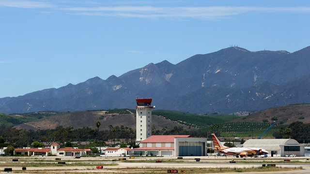 A view from Santa Barbara Municipal Airport