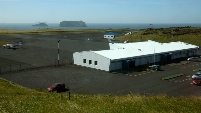 A view from Vestmannaeyjar Airport