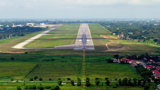 A view from Yangon International Airport