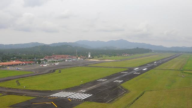 A view from Manado Sam Ratulangi International Airport