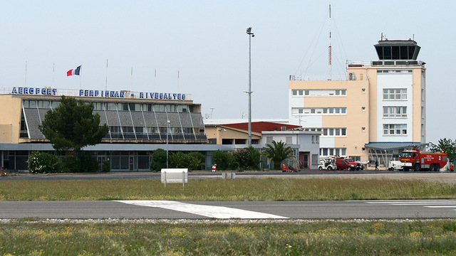 A view from Perpignan Rivesaltes Airport