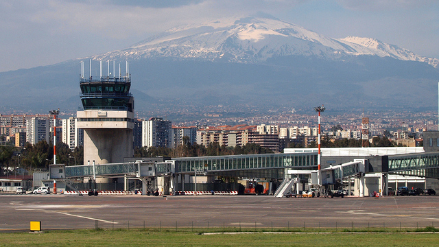 A view from Catania Fontanarossa Airport