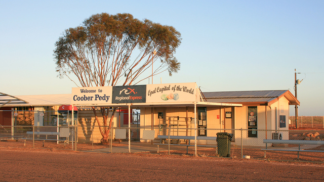 A view from Coober Pedy Airport