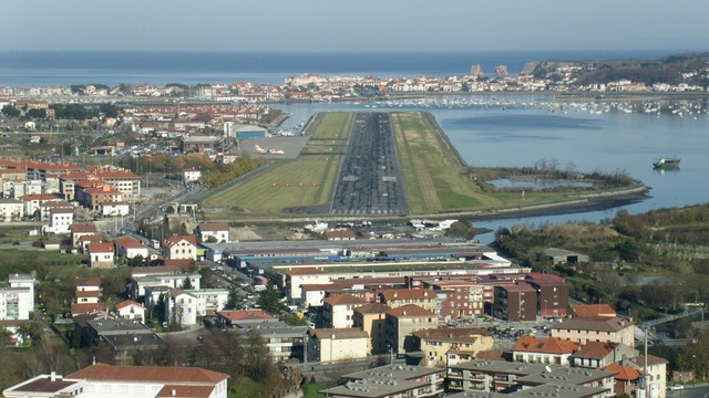 A view from San Sebastian Airport