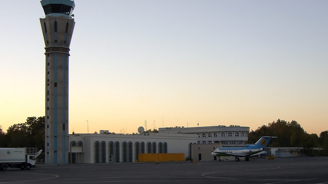 A view from Tashkent International Airport