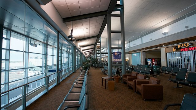 A view from Edmonton International Airport