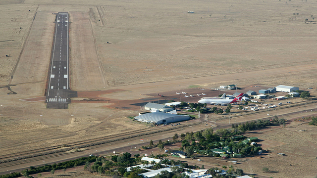 A view from Longreach Airport