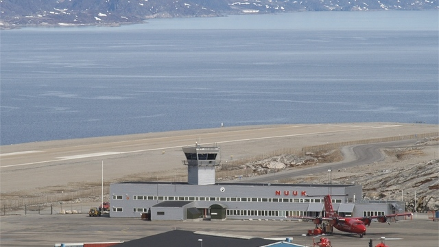 A view from Nuuk Airport