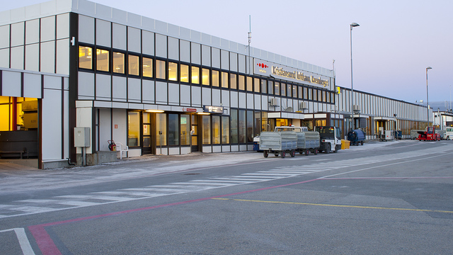 A view from Kristiansund Kvernberget Airport