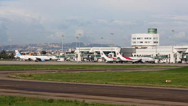 A view from Algiers Houari Boumediene Airport