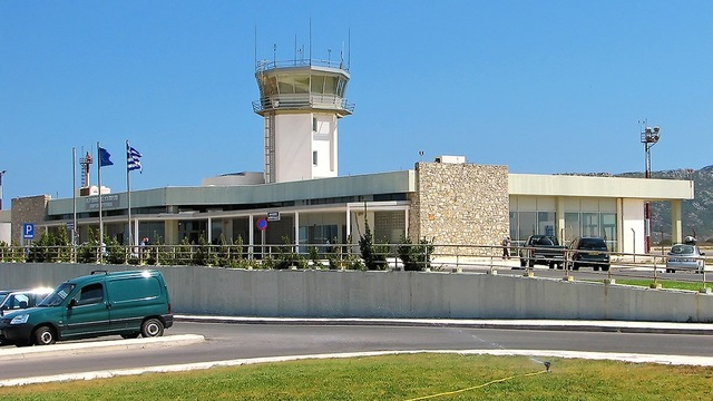 A view from Kithira Island National Airport