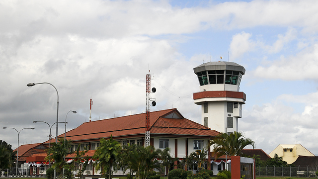 A view from Ambon Pattimura Airport