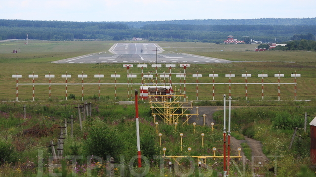 A view from Krasnoyarsk International Airport