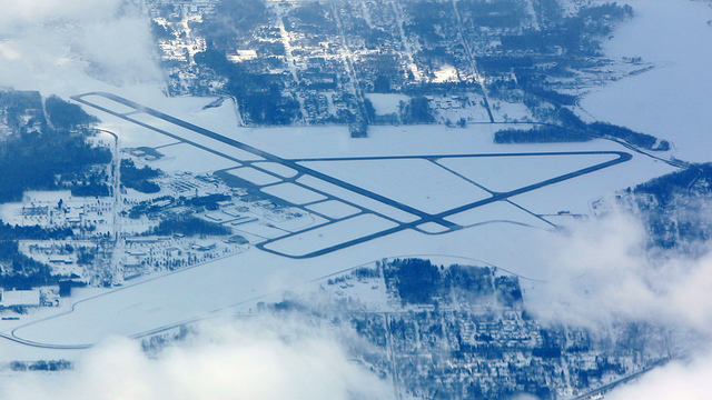 A view from Muskegon County Airport