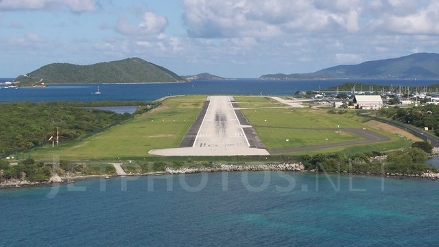 A view from Beef Island Terrance B. Lettsome Airport