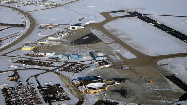 A view from Bismarck Municipal Airport