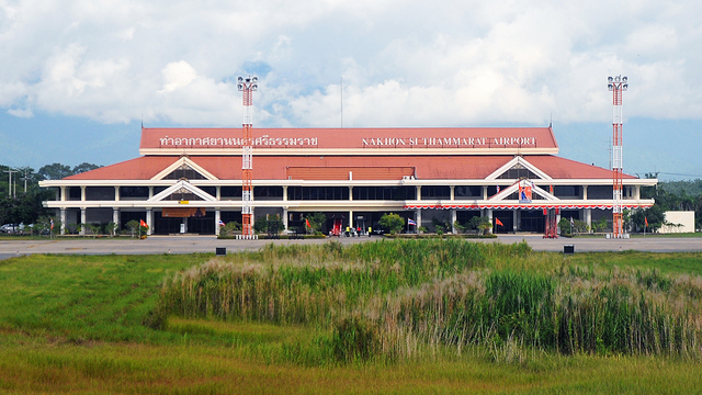 A view from Nakhon Si Thammarat Airport