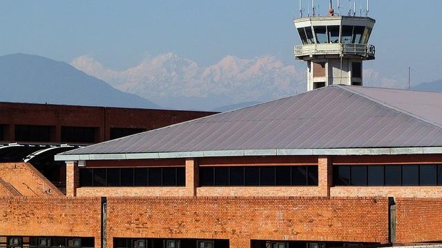 A view from Kathmandu Tribhuvan International Airport