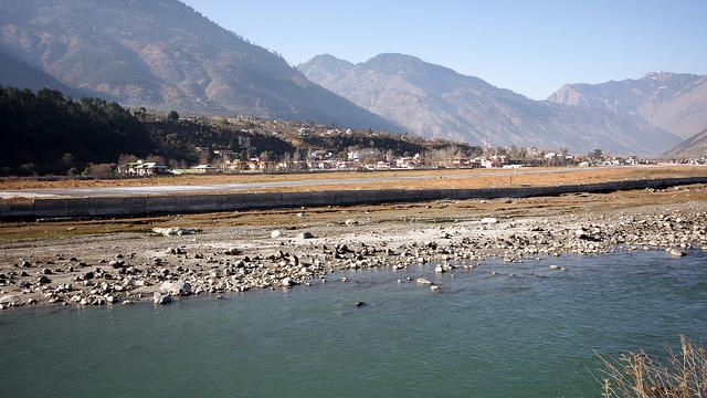 A view from Kullu Bhuntar Airport