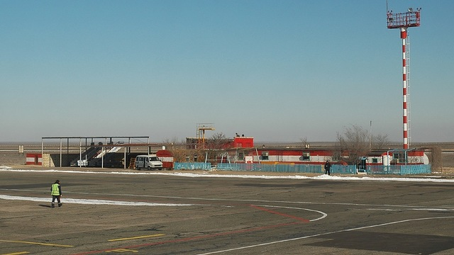 A view from Aktau Airport