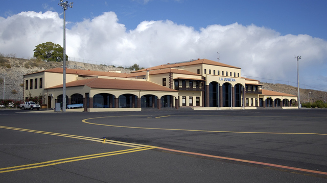 A view from La Gomera Airport