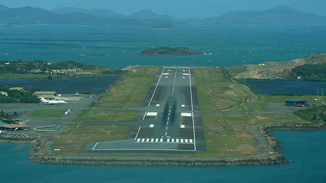 A view from Hamilton Island Great Barrier Reef Airport