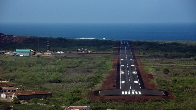 A view from San Cristobal Airport
